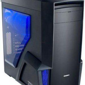 Компютър настолен геймърски ZALMAN NEO Z11, с GB RX580GAMING-8GD 1.1 видео карта, черно-син