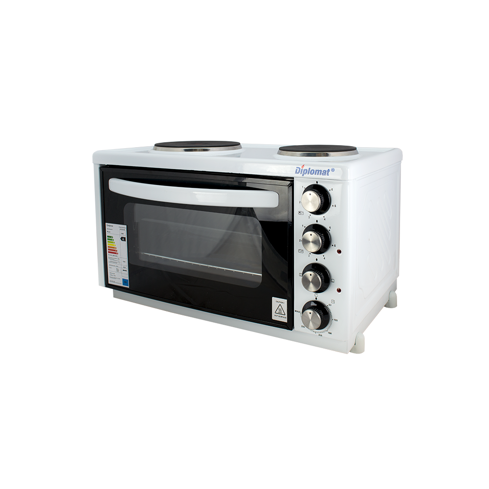 Готварска печка Diplomat M20, 24 л, 2 котлона, двойно стъкло 3084W