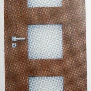 Врата Галерия 3/3 стъкло 80 св. ак.