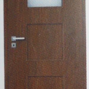 Врата Галерия 1/3 стъкло 80 св.ак.