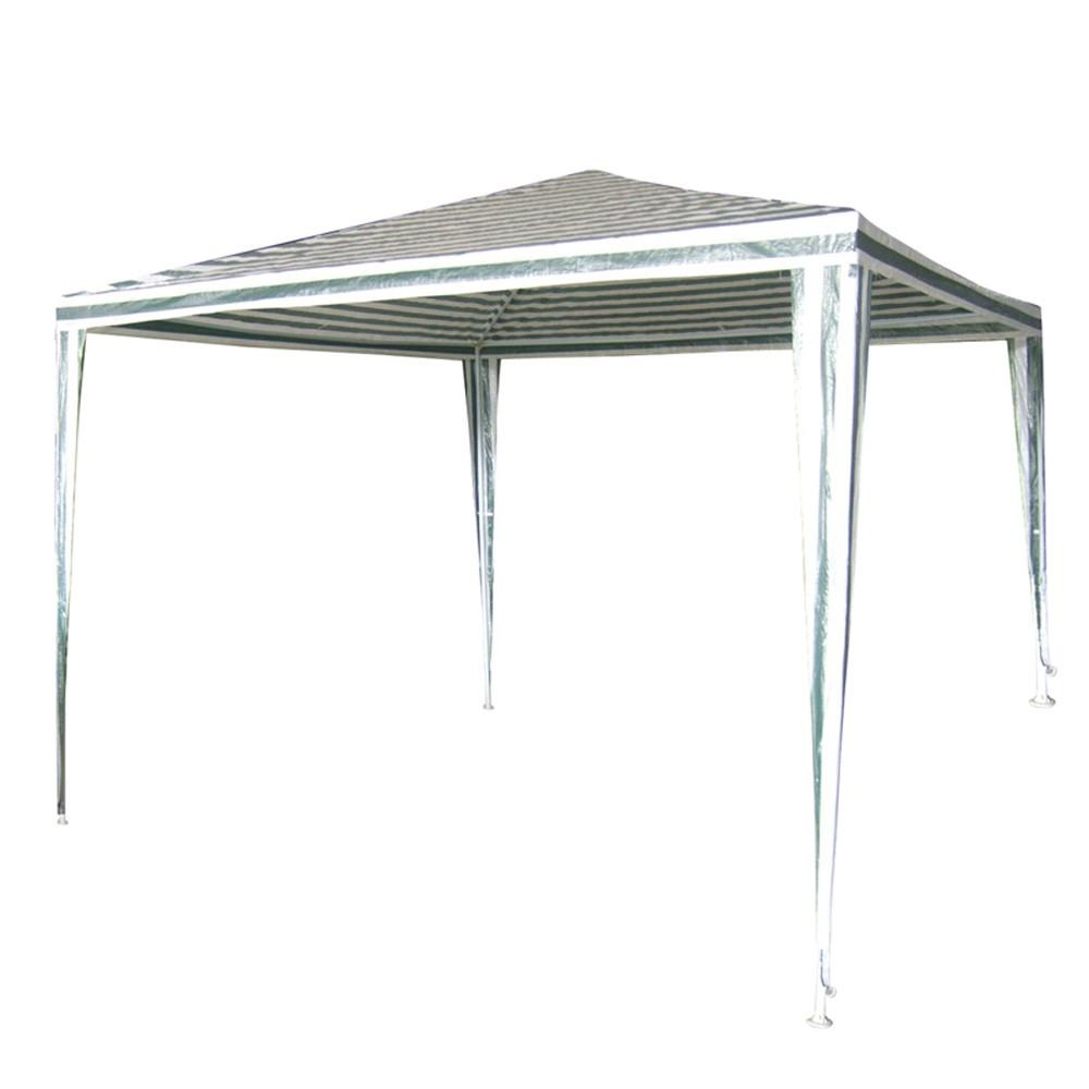 Градинска шатра бяло-зелено/полиетилен/