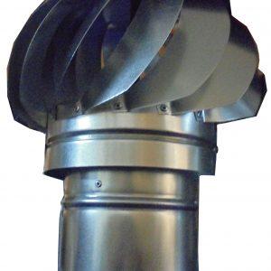 Шапка за комин вентилаторна ф130 въртяща