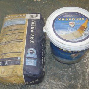 хидро изолации  двукомпонентни , Хидрозол сух -10 кг , течен -3л