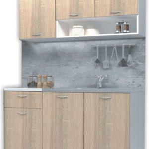 кухня Белла 1,20м, дъб сонома/бяло