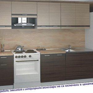 кухня Далия 240/180см.; орех рибера /дъб сонома