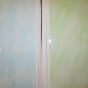 ламперия ПВЦ - пакет /син, зелен, бял/- 2,6/0,25м - 6,5 кв.м.