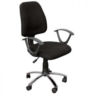 Офис стол Кармен с облегалка черен