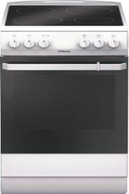 Готварска печка HANSA FCCW580009 със стъклокерамичен плот, мултифункционална фурна с девет режима