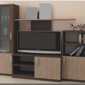 секционен шкаф Искра 170/42/Н-155 см, венге/дъб амбер