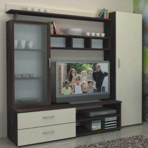 секционен шкаф Ваня 200/50/Н-186 см,венге/бежаво