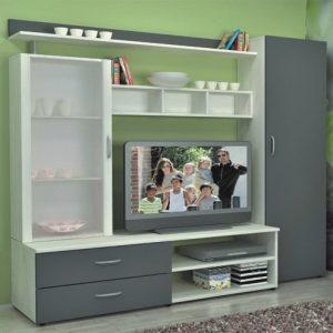 секционен шкаф Ваня 200/50/Н-186 см, дъб крафт/антрацит