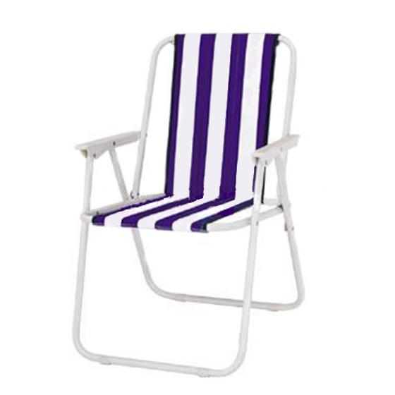 Стол сгъваем за къмпинг TLD065, метал+плат, бял-лилав