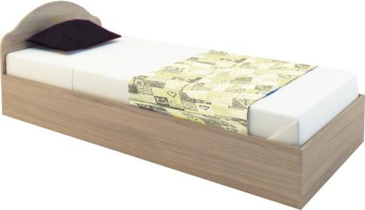 легло единично Диди за матрак 82/190см. дъб сонома