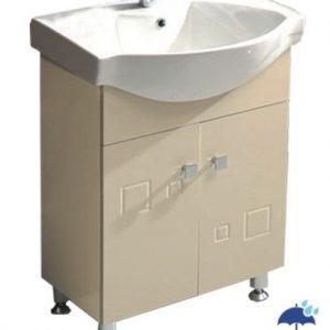 шкаф+мивка за баня долен 6080 бежов