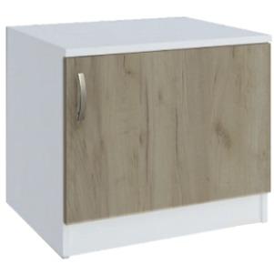 шкаф за Раховец дъб сонома/бяло